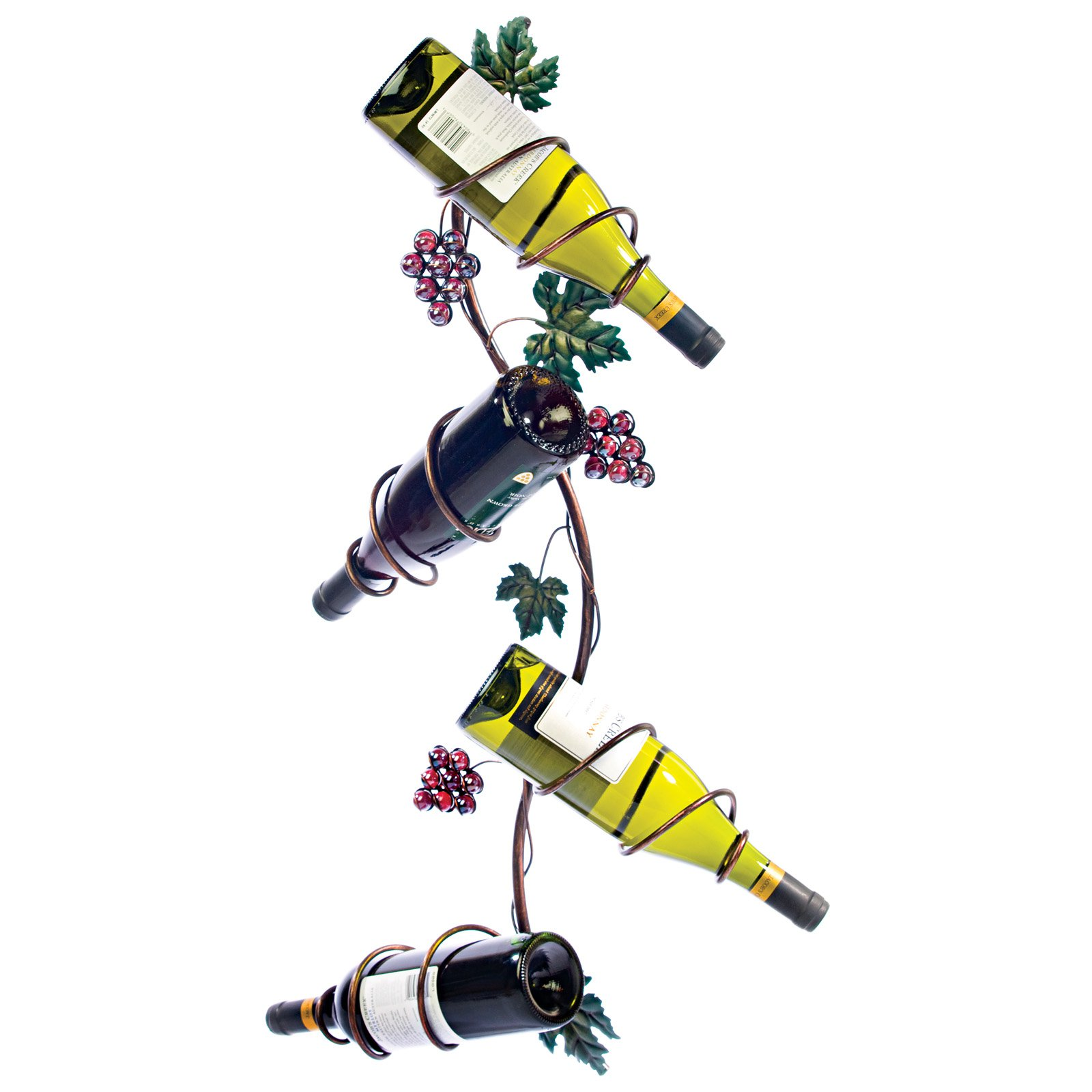 Twine Grapevine: Vertical 4 Bottle Wine Rack by True Brands