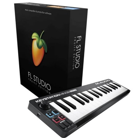 FL Studio Fruity Edition Download Card with M-Audio Keystation Mini for (Best Piano Fl Studio)