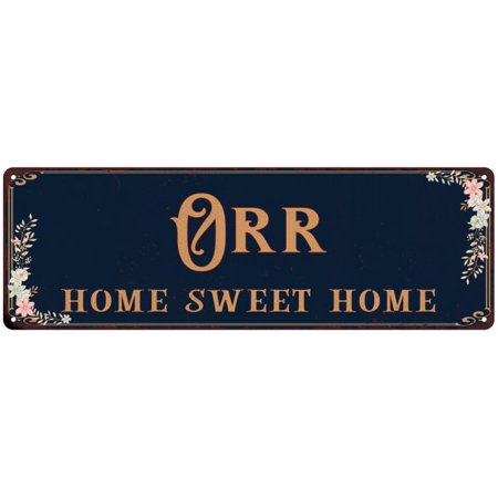 ORR Home Sweet Home Victorian Look Gloss Metal Sign 6x18 Distressed Shabby Chic Décor, Home, Game Room M61802221 - Shabby Shic