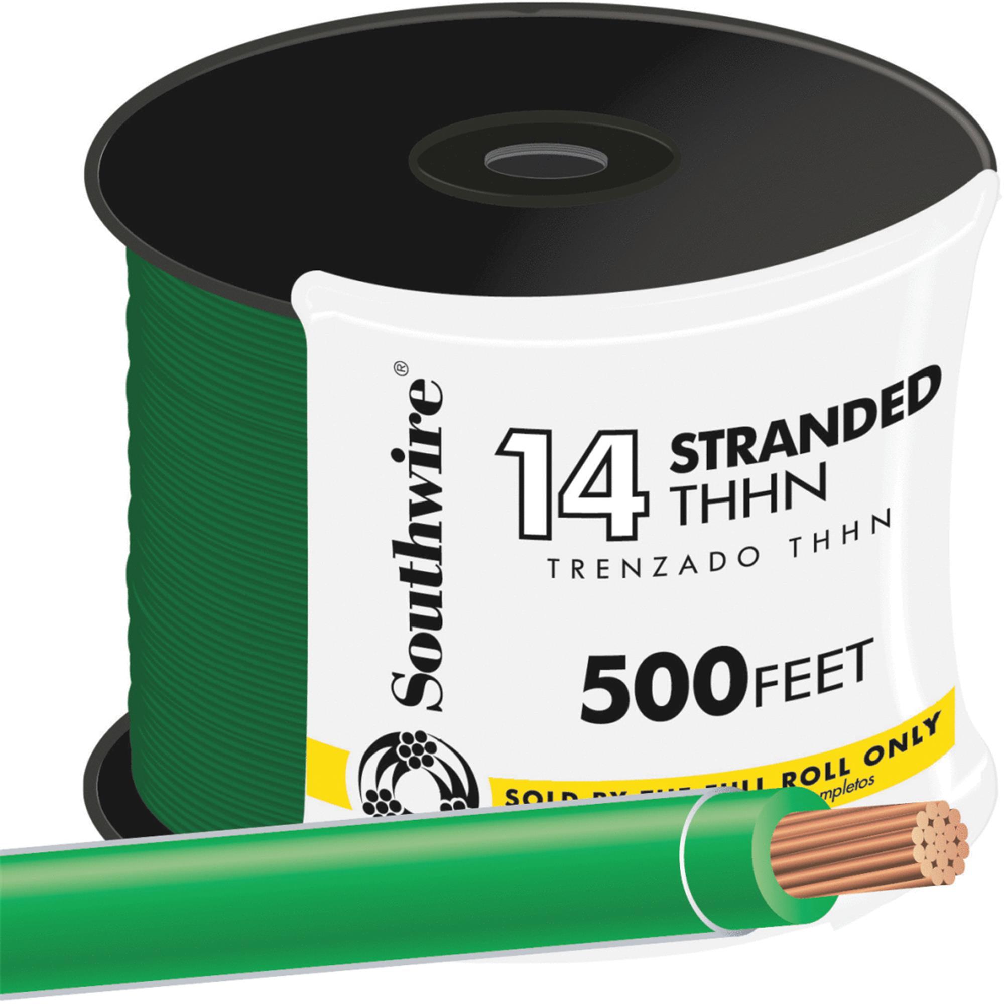 Southwire 500' 14str Green Thhn Wire 22959158