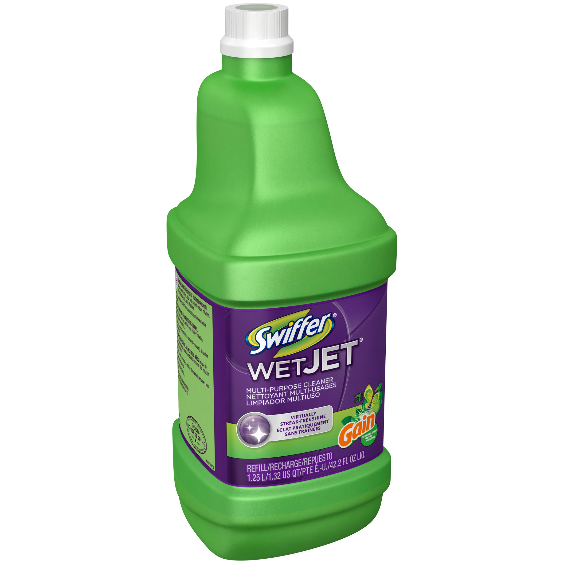 Swiffer Wet Jet Multi-purpose Cleaner with Gain Scent Refill 1.25L