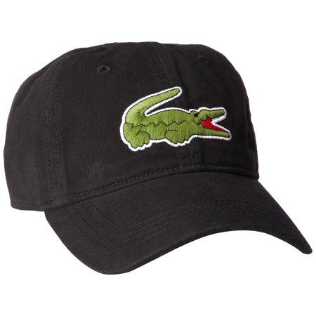 lacoste gabardine cap with large crocodile  - mens (Lacoste Hats For Men)