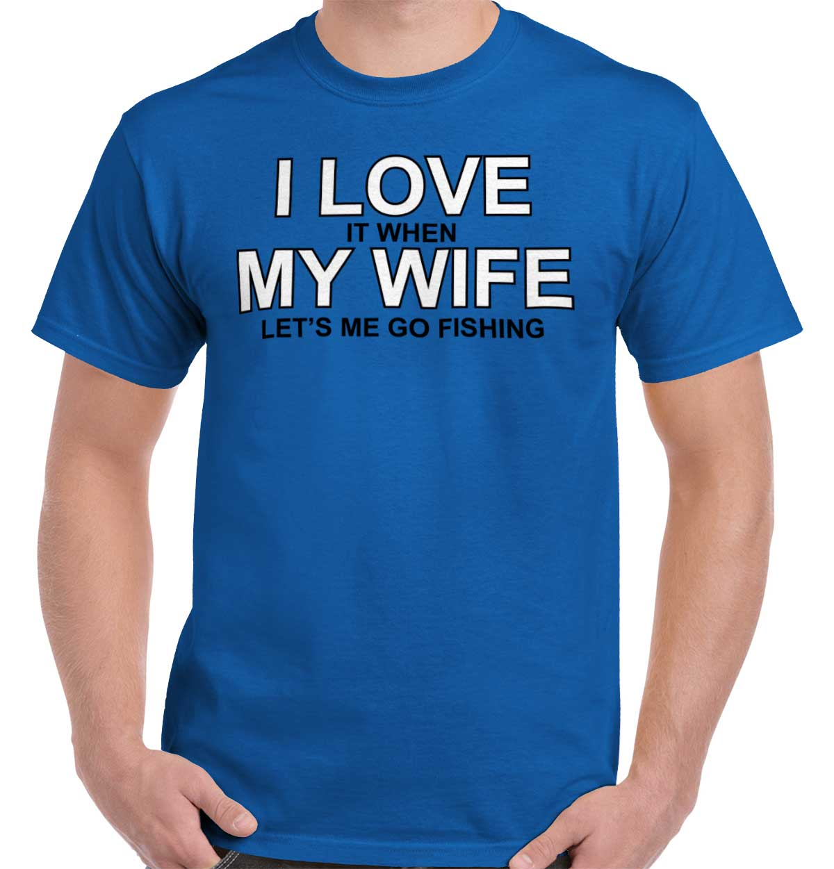 Love My Wife Fishing Shirt | Fish Funny Couple Cute Husband T-Shirt Tee