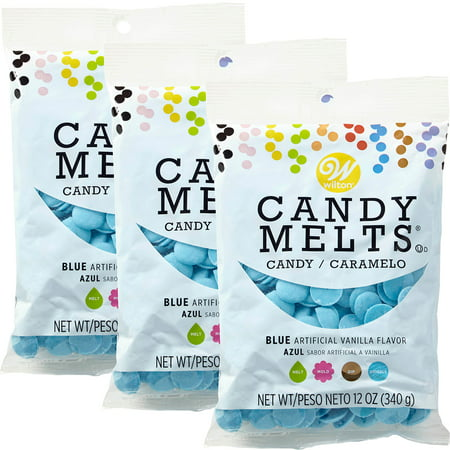 Wilton Blue Candy Melts Candy, 12 oz., Pack of
