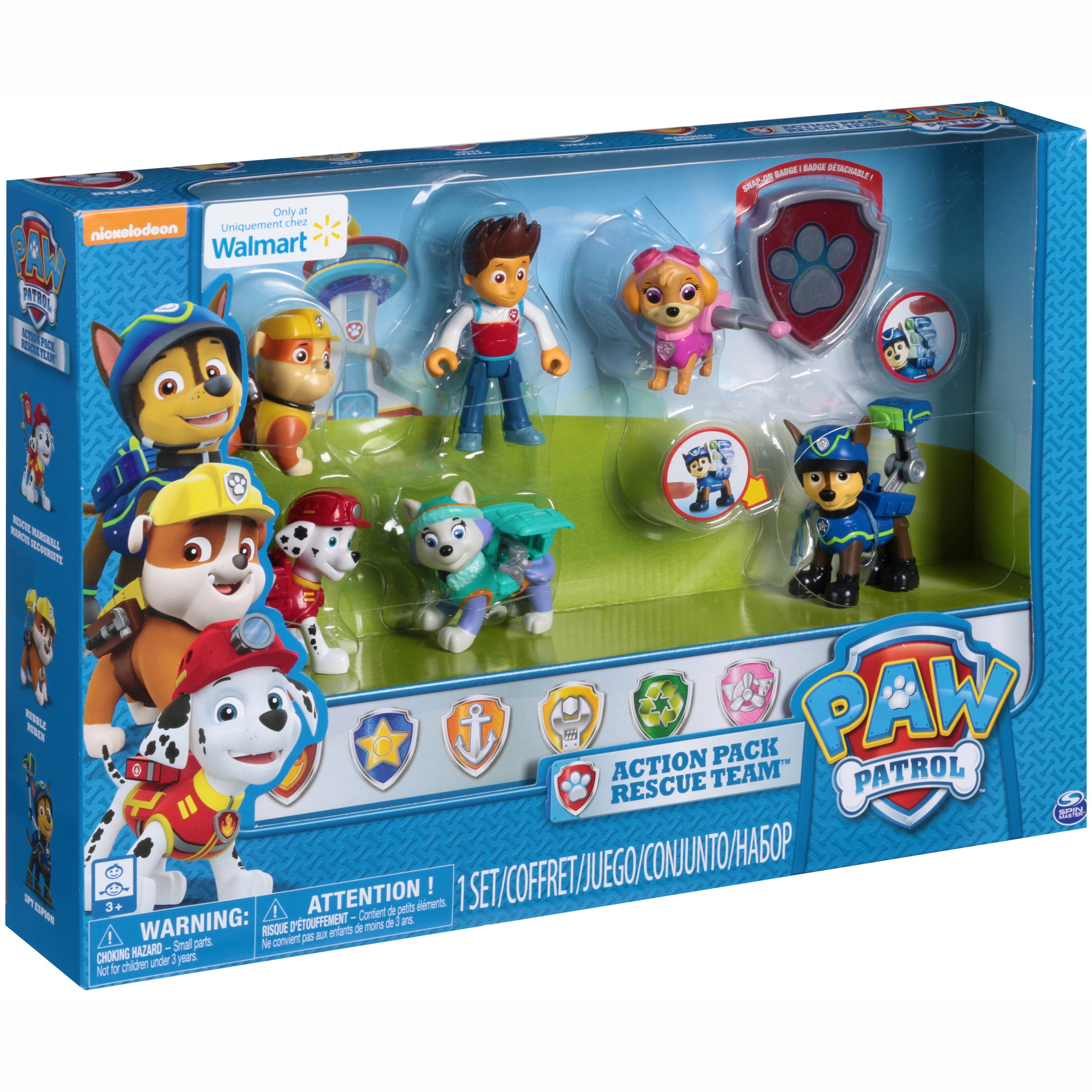 Paw Patrol Mission Paw Action Pack Pups Gift Set, Walmart Exclusive ...