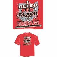 "Cincinnati Baseball ""I Bleed Red and Black, Go Cincinnati"" T-Shirt, Red"
