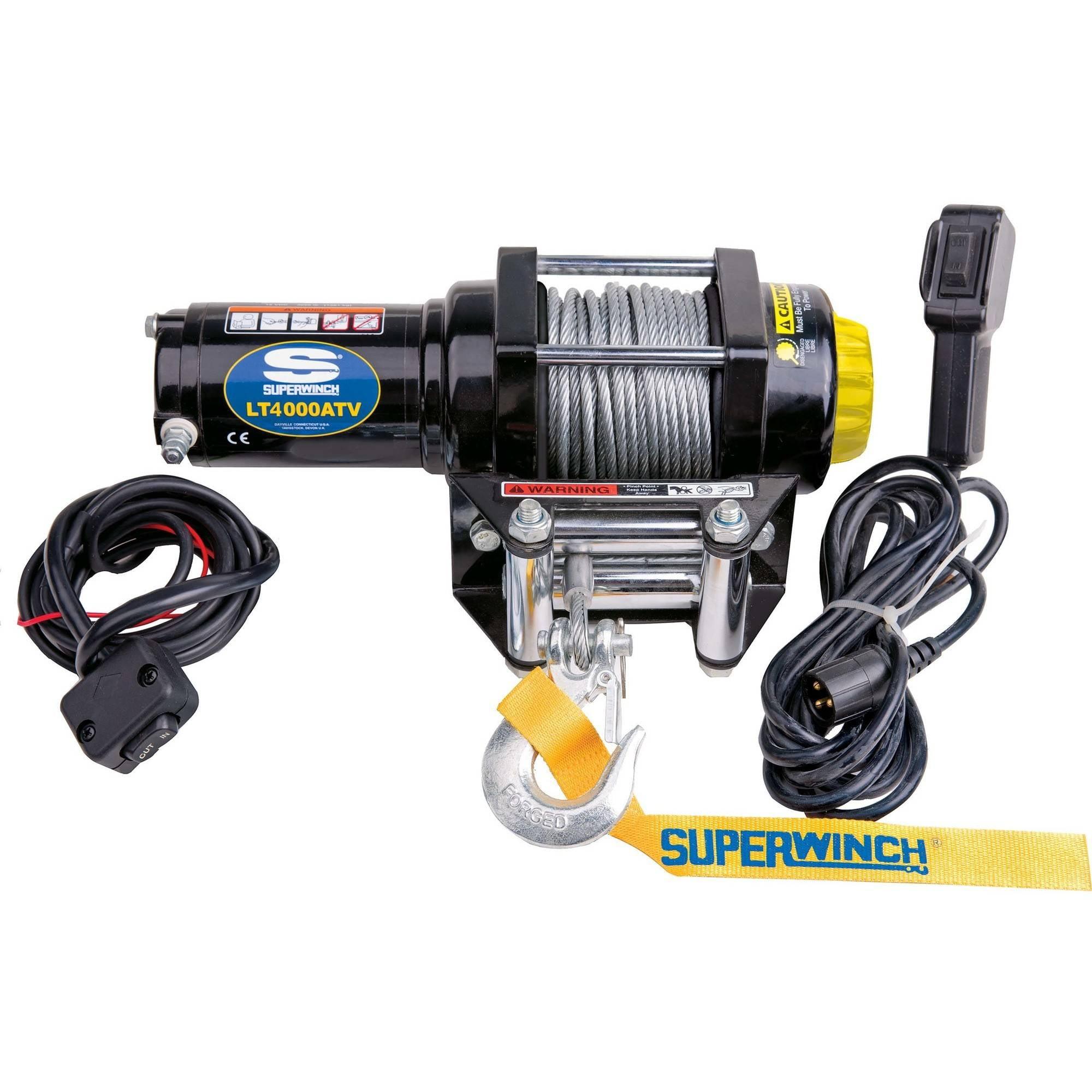 Superwinch 1140220 LT4000 ATV Winch, Black by Superwinch