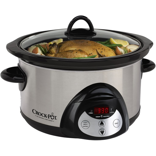 Crock-Pot 5 qt stainless steel Countdown Smart-Pot slow cooker