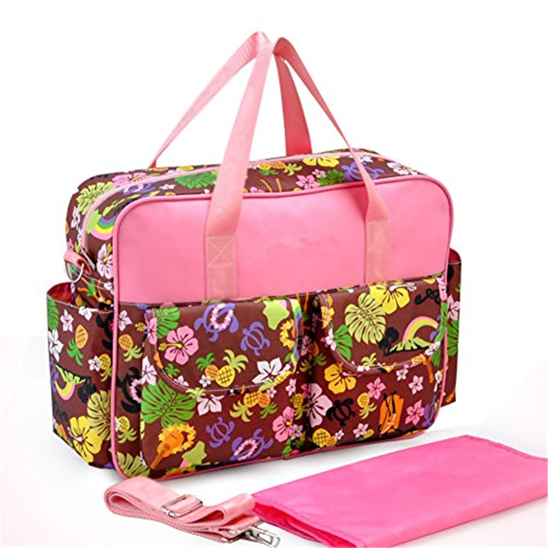 Ecokaki(TM) Fashion Floral Designer Diaper Tote Bags Baby...