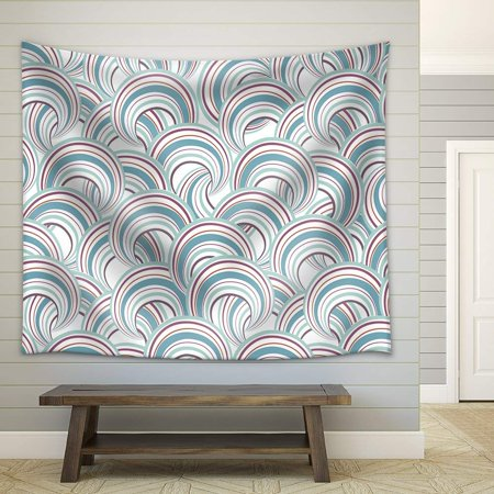 Geometric Bubble - wall26 - Vector - Abstract Geometric Seamless Pattern. Bubble Ornamental Background - Fabric Wall Tapestry Home Decor - 51x60 inches
