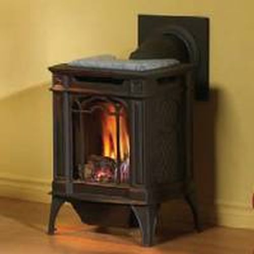 Arlington Direct Vent Cast Iron Gas Stove - Painted Black