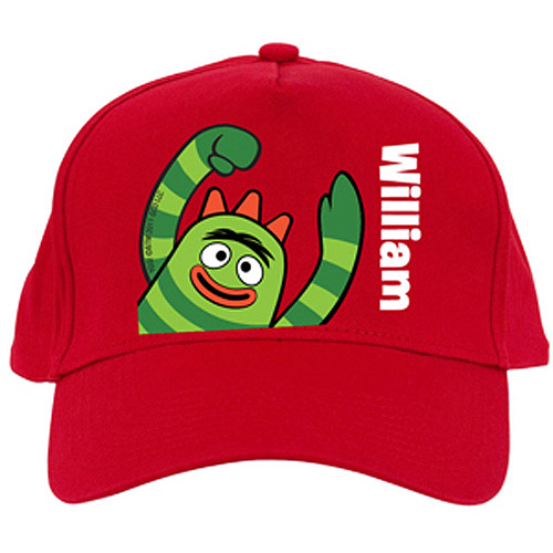 Personalized Yo Gabba Gabba! Brobee Red Baseball Cap