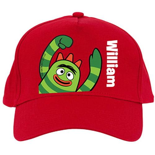 Personalized Yo Gabba Gabba! Brobee Red Baseball Cap