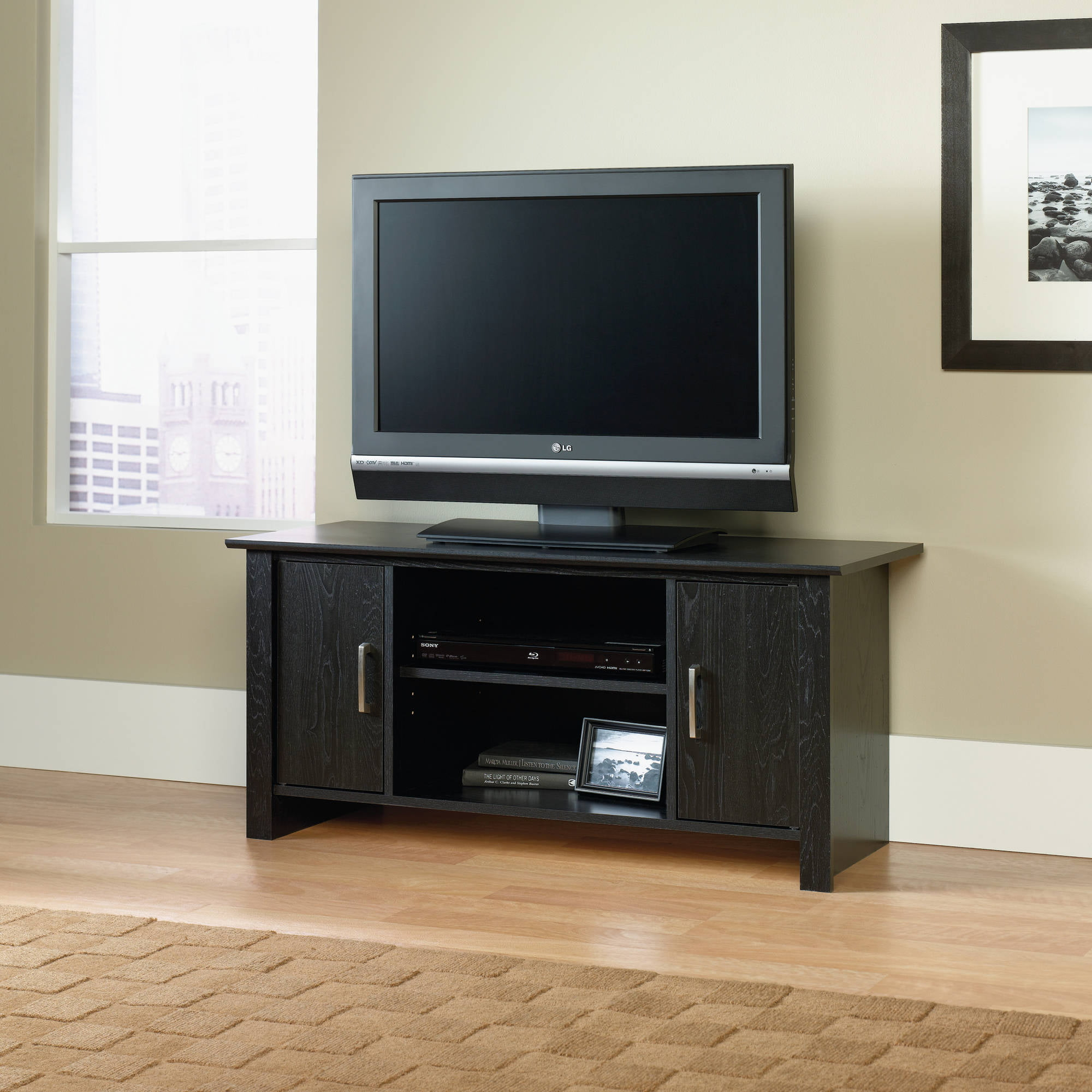 Mainstays Tv Stand For Flat Screen Tvs Up To 47 Multiple Finish Com