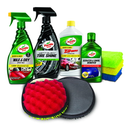 Turtle Wax Total Exterior Car Care Kit (Black Magic Wax)
