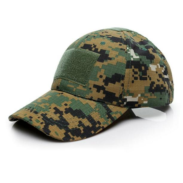 MEN WOMEN OUTDOOR TACTICAL CAMOUFLAGE BASEBALL CAP ADJUSTABLE SNAPBACK HAT SMART