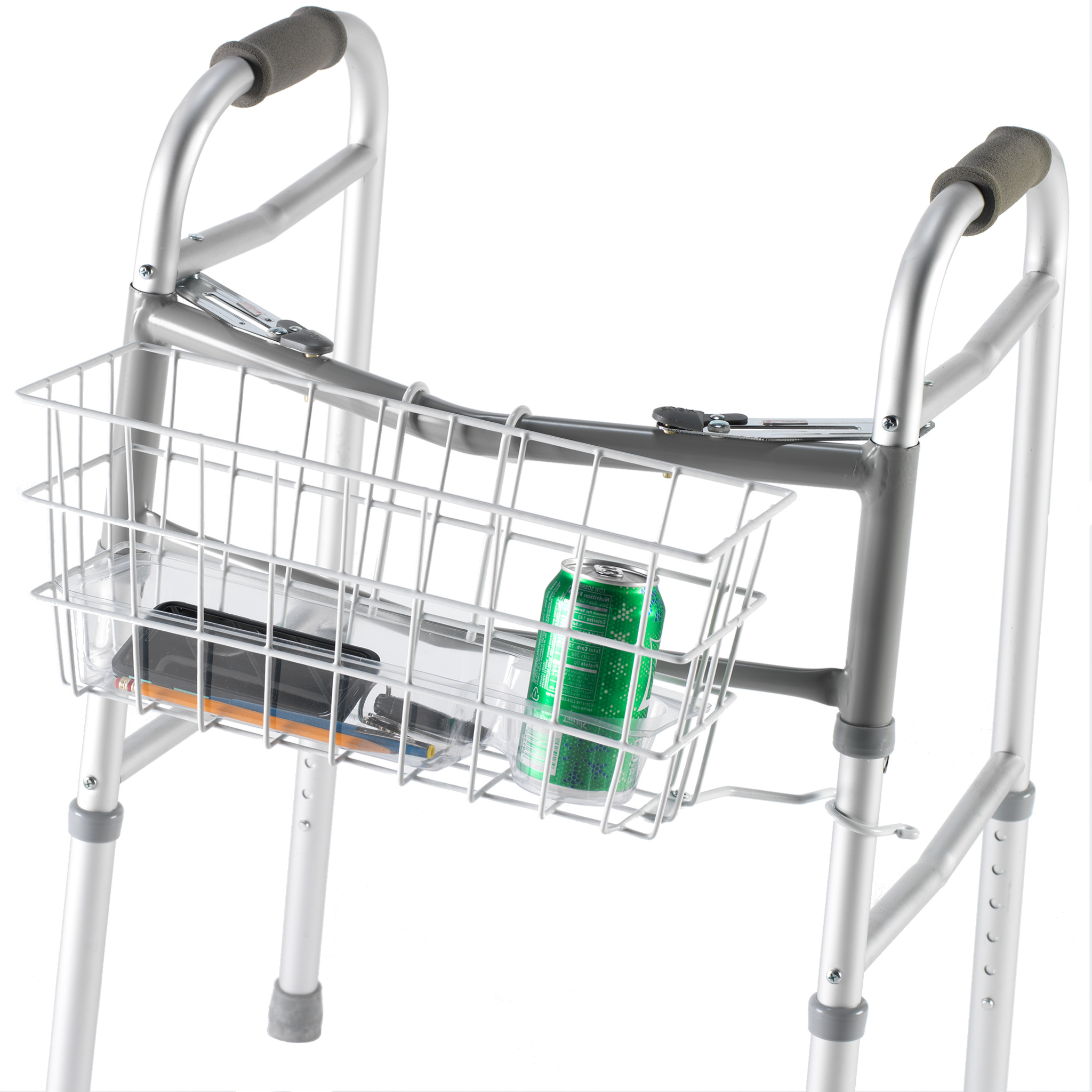 PCP Wire Basket For Dual Release Walker, White,