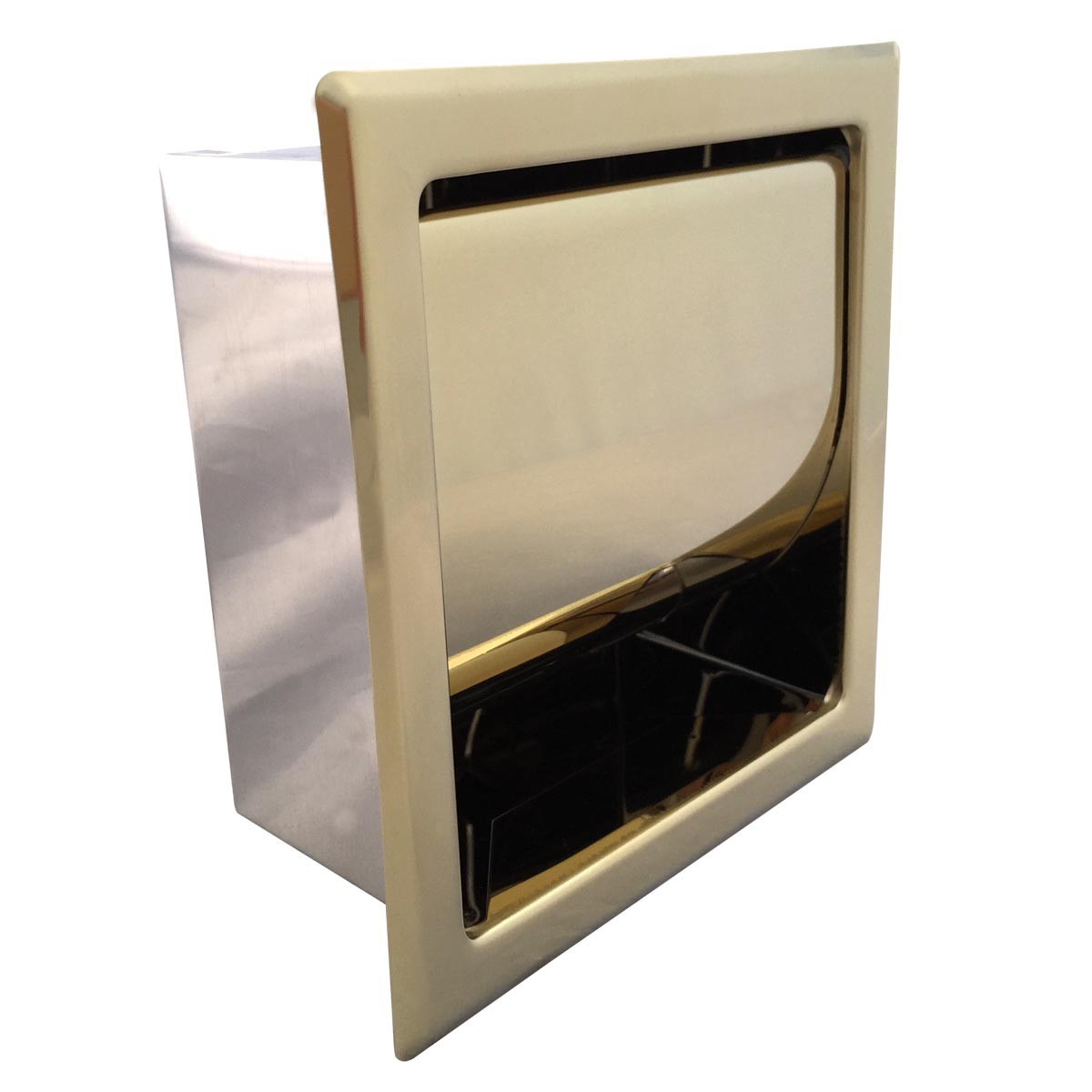 Recessed Toilet Paper Tissue Holder Gold Stainless Steel ...