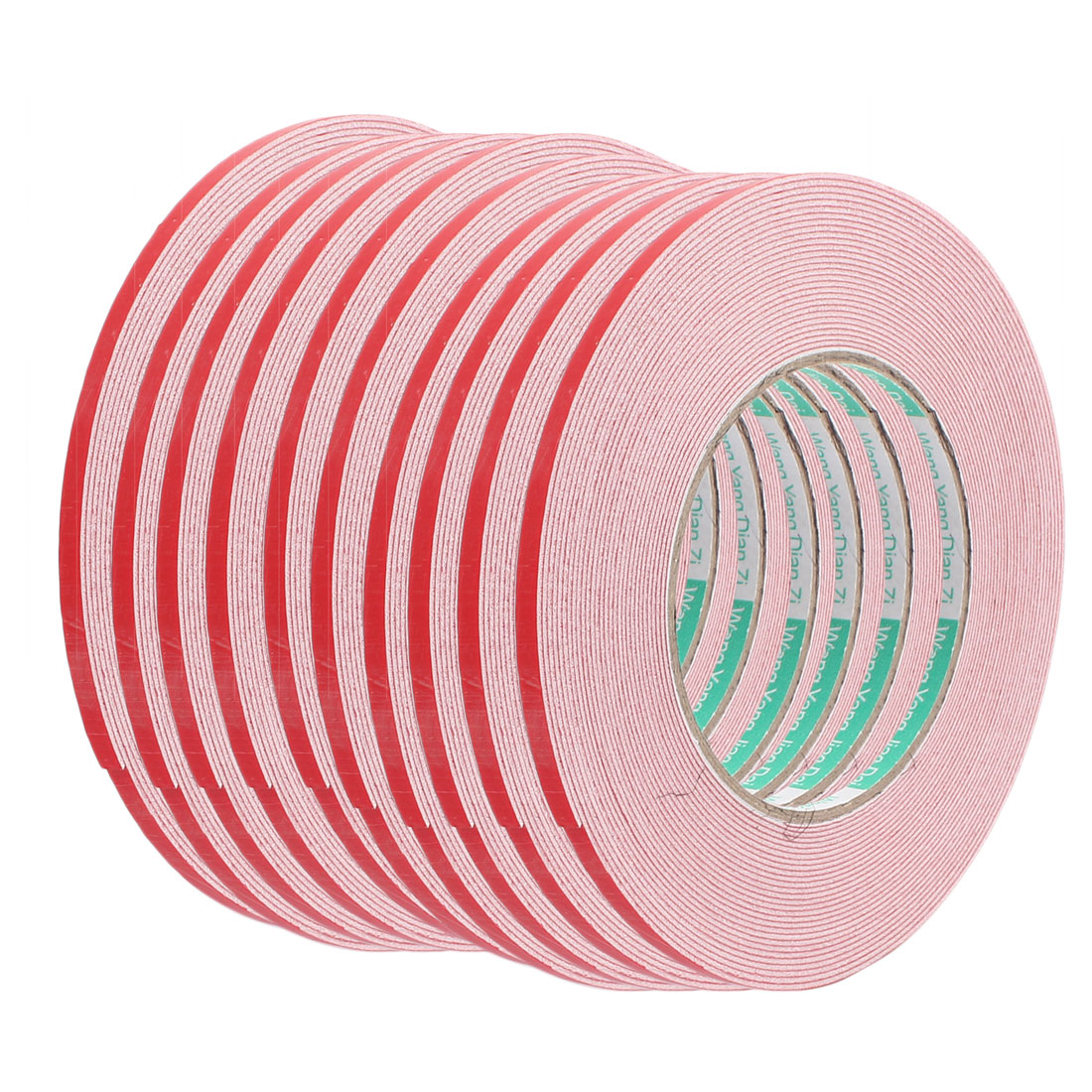10pcs 10M 6mm x 1mm Dual-side Adhesive Shockproof Sponge Foam Tape Red White