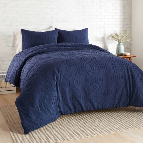 Better Homes & Gardens Full or Queen Clipped Jacquard Comforter Set, 3 Piece