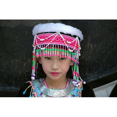 Framed Art For Your Wall Face Woman Costume Thailand Girl Folklore 10x13 - Siamese Costume