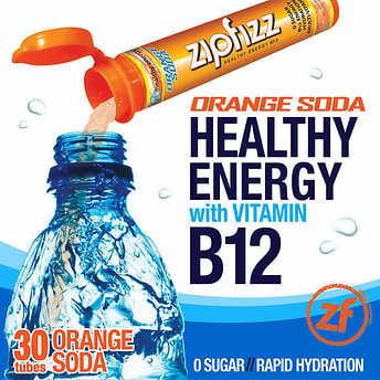Zipfizz Healthy - Zipfizz Healthy Energy Drink Mix, 30 Tubes Orange Soda