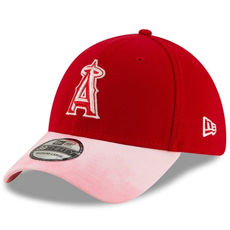 Los Angeles Angels New Era 2019 Mother's Day 39THIRTY Flex Hat - Red/Pink ()
