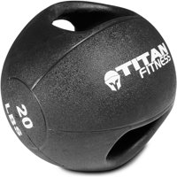 Titan Fitness 20 lb Dual Grip Medicine Ball Rubber Muscle Driver Sport Double