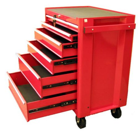 Excel 6 Drawer Red Roller Tool Cabinet