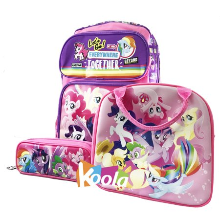My Little Pony School Backpack Lunch Bag Set 16