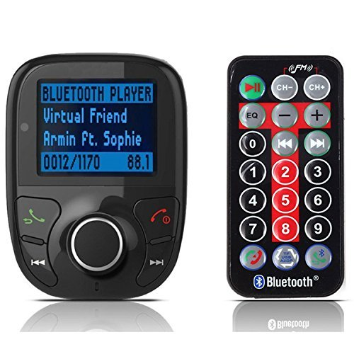 LCD Car Kit Mp3 Bluetooth Player Fm Transmitter Modulator Sd MMC USB Remote (A-Bluetooth FM Transmitter)