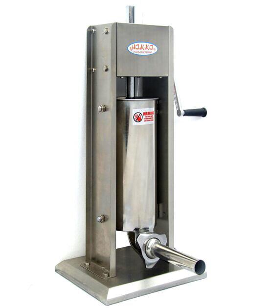 Hakka 15 Lb//7 L Sausage Stuffer 2 Speed Stainless Steel Vertical Sausage Maker