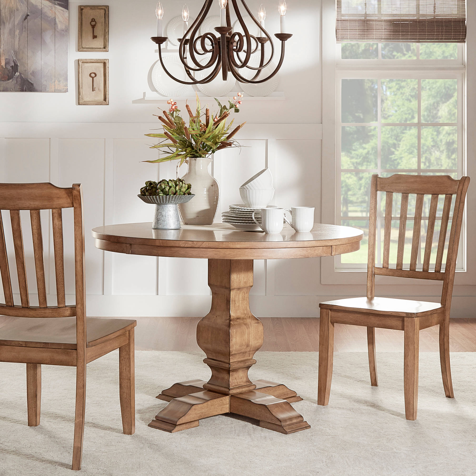 "Weston Home 45"" Round Dining Table, Multiple Finishes"