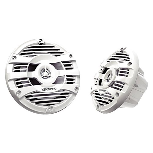 "Kenwood KFC-1653MRW 6.5"" 2-way Marine Speakers Pair (White)"