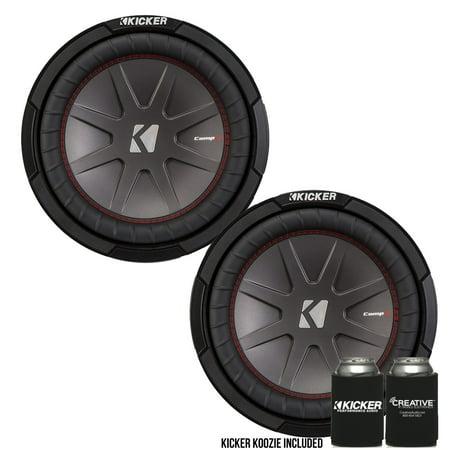 """Kicker 43CWR102 10""""  Dual Voice Coil 2 ohm Comp R woofers Bundle"""