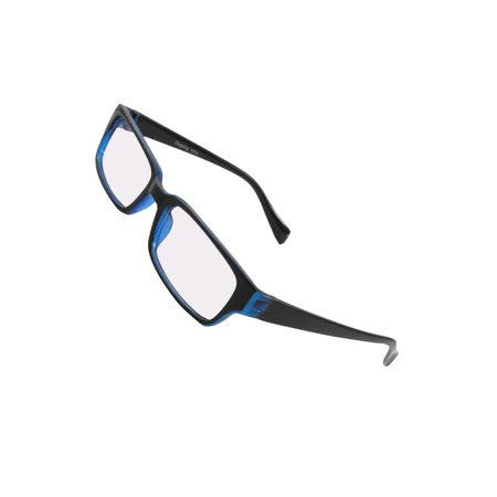 7797cec9c4f Unique Bargains - Unisex Plastic Plain Glasses Spectacles Eyeglasses Clear  Lenses Black Frame - Walmart.com