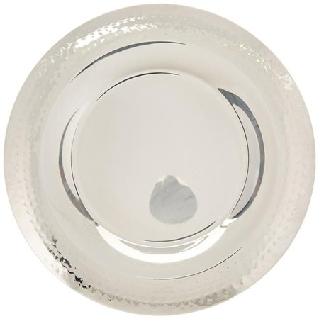 Stainless Steel Hammered Charger, Diameter & Silver - 13.5 in. - image 1 of 1