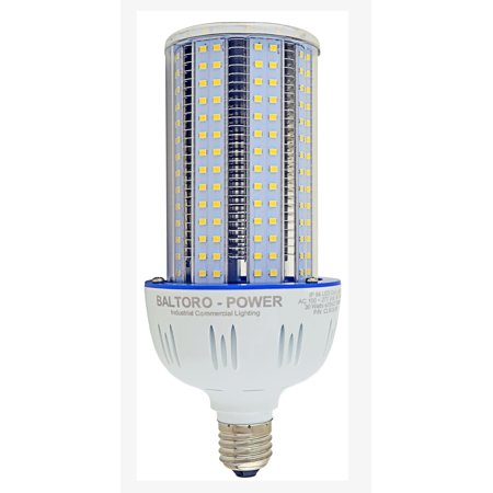 3800lm Led (Baltoro CL6030-5K LED 300 Watt Incandescent Replacement Corn Bulb, Indoor/Outdoor Large Area - E26 3800Lm, for Street Lamp Post Lighting Garage Warehouse HighBay Barn Porch Backyard Brightest 30W)