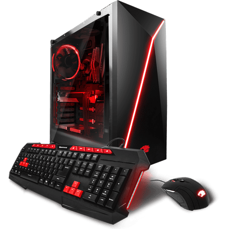 iBUYPOWER View21028a - Gaming Desktop PC - AMD Ryzen 1800X - 8GB DDR4 Memory - AMD Radeon RX 580 4GB - 1TB Hard Drive - Wi-Fi - RGB (Monitor not (Rgb Computer Monitors)
