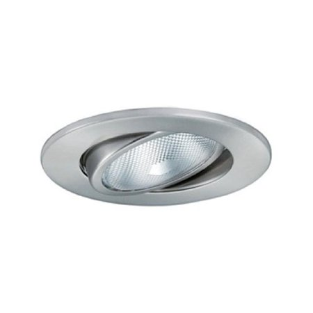 Aperture Line Voltage Trim Recessed Light, Adjustable Gimbal Ring, Satin Chrome Finish 5 in.