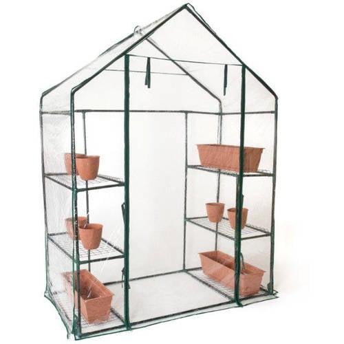 """6 Shelf, 3 Tier 6'4"""" Tall Walk In Greenhouse by Trademark Innovations by Trademark Innovations"""