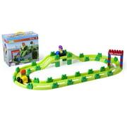 Miniland Super Blocks Racing Track Set, 62 Pieces