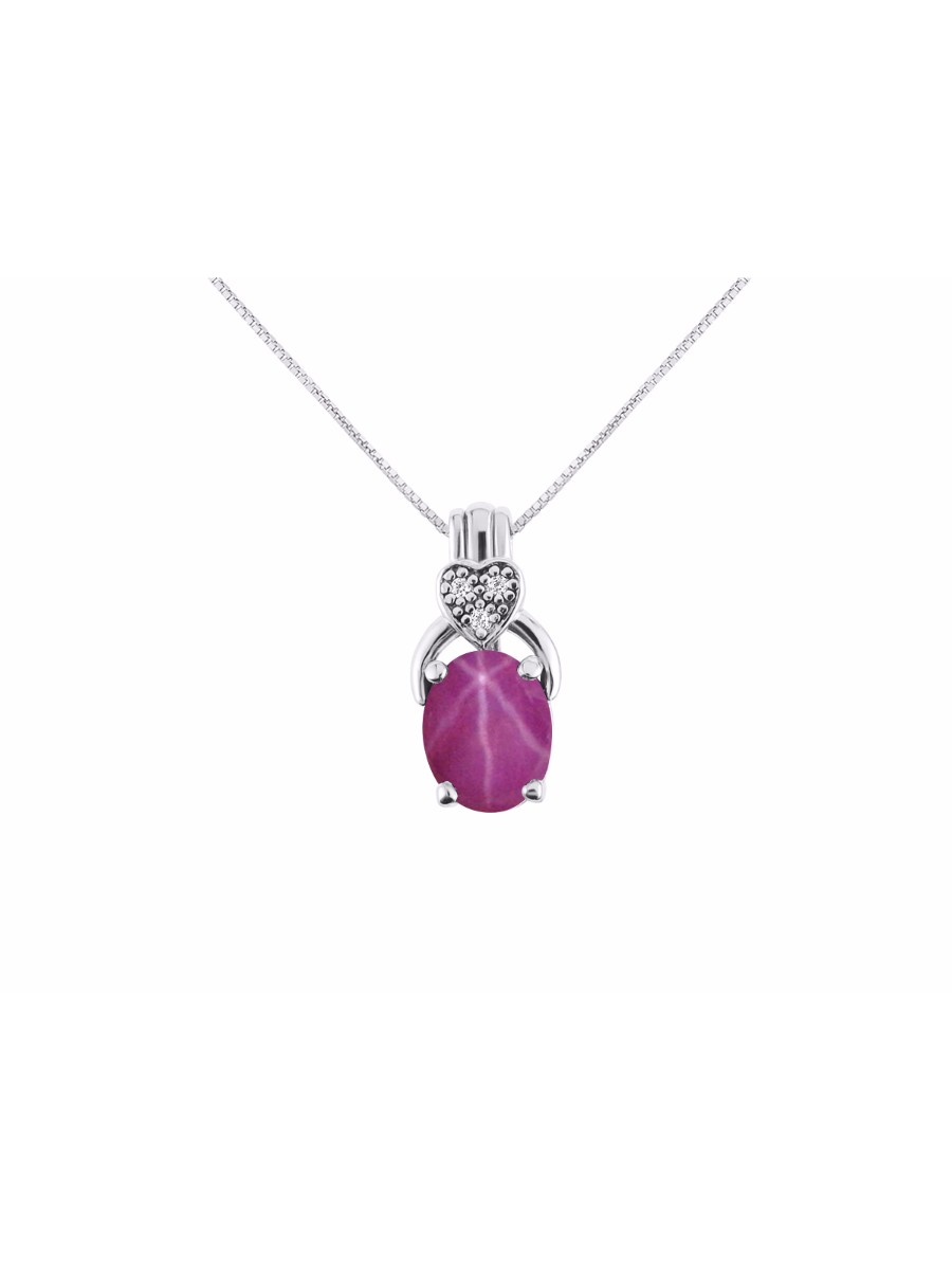 Details about  /Amethyst Ruby Topaz Gemstone 925 Sterling Silver Chain Pendant For Women 140