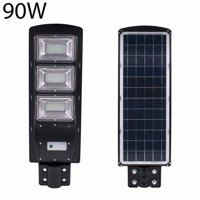 90W 180-LED 2835SMD Solar Sensor Outdoor Light with Light Control and Radar Sensor Black
