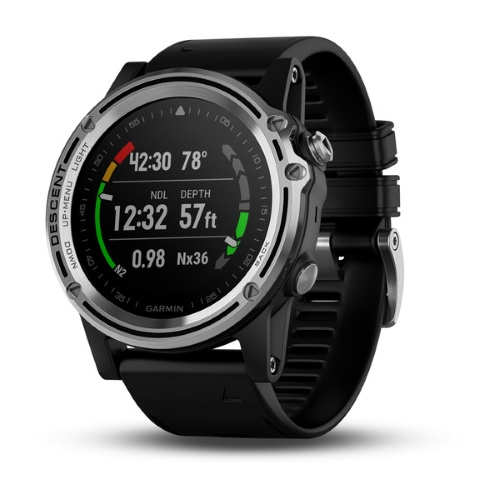 Garmin Descent Mk1 Silver with black band 010-01760-00 GPS Watch