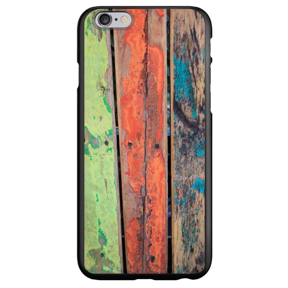 "CUSTOM Black Spigen Thin Fit Case for Apple iPhone 7 PLUS / 8 PLUS (5.5"" Screen) - Rough Painted Wood"
