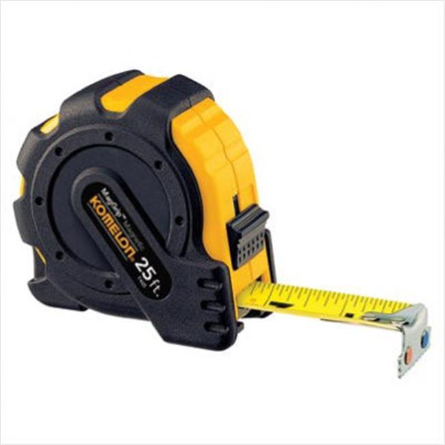 Komelon USA 416-7425IM 1 Inchx25 Inch Metric Mag Gripmagmetic Hook Tape Measu