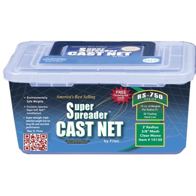 Fitec 12180 8 ft. RS750 Super Spreader Cast Net 0.38 in. ...