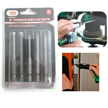 5Pc Set Power Drvier Bits Quick Change Drill 3
