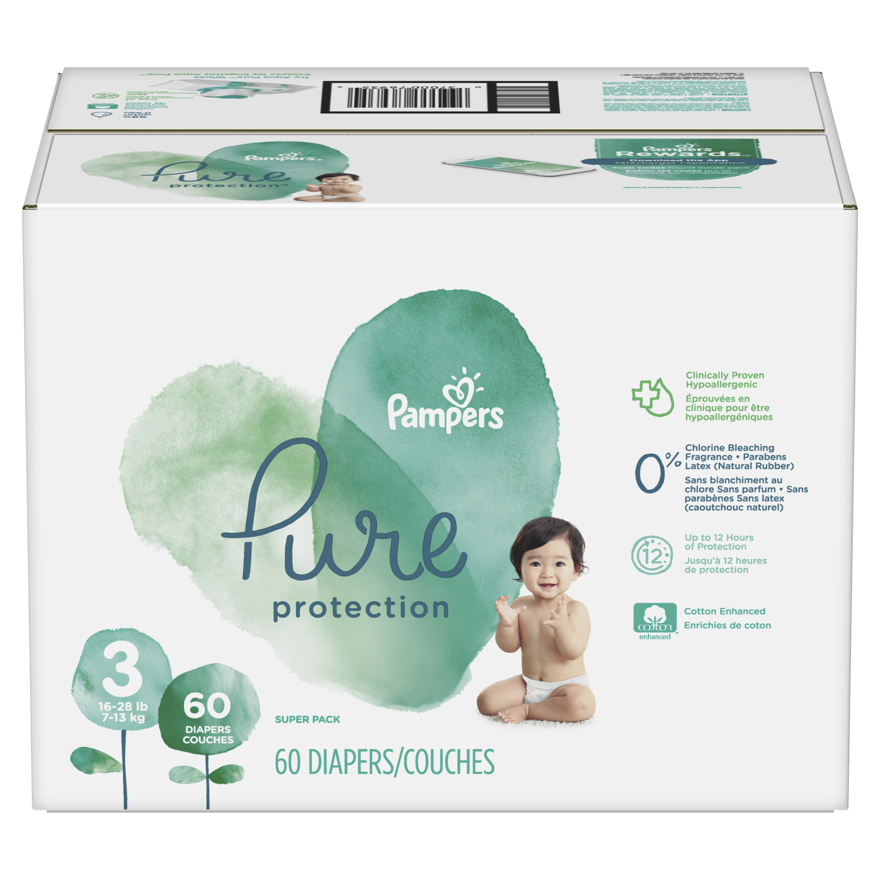 ca1571ef01c Pampers Pure Protection Diapers Size 3